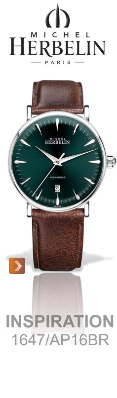 mechanische Michel Herbelin Herren-Uhr mit automatischem Aufzug der Serie Inspiration - Michel Herbelin Uhren Onlineshop