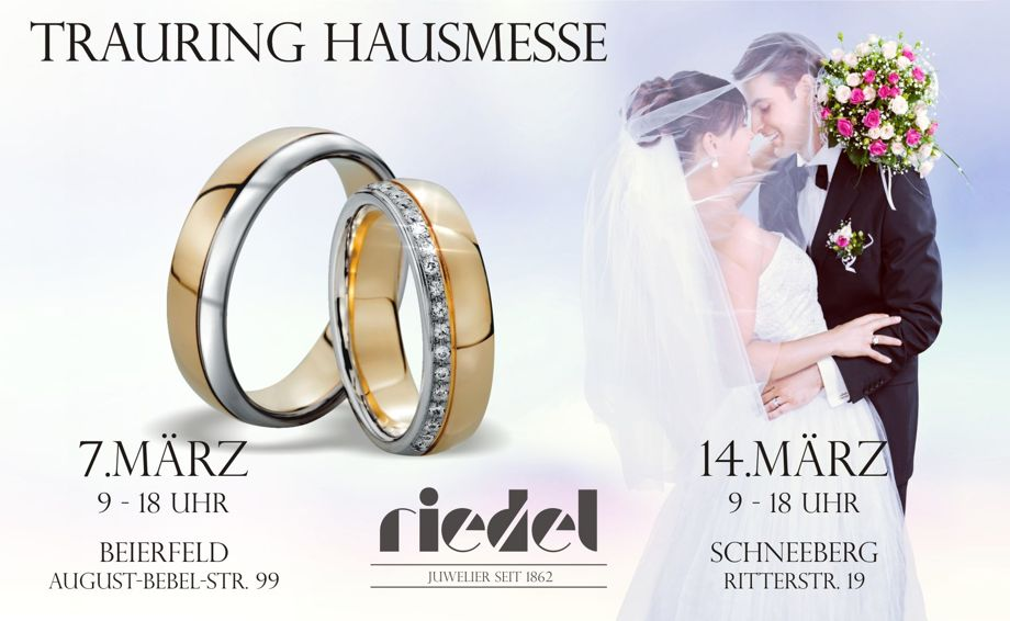 Informationen zu den Trauring Hausmessen bei Juwelier Riedel