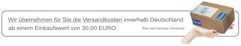 Kostenloser Versand ab 30 Euro