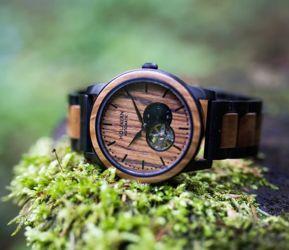 Holzkern Automatik Uhr