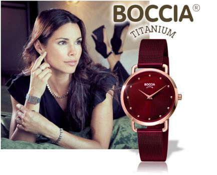 Titan Herren- und Damenuhren der Marke Boccia mit Leder- oder Titan Metallband