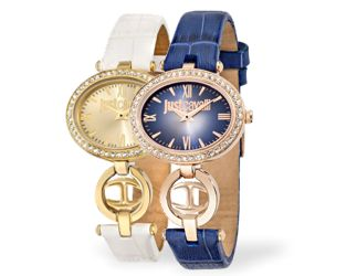 Gekonnt kombiniert - goldene, silberne und zweifarbige Uhren mit sportlichem Metallband oder feinem Lederband von JUST CAVALLI