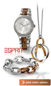 die aktuelle Uhren und Schmuckkollektion von Esprit