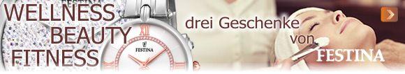 Festina schenkt Ihnen beim Kauf einer Damenuhr ab 99,00 Euro drei Prämien - hier klicken und mehr erfahren...