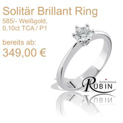 Weissgold Brillant Ring
