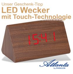Atlanta LED Wecker mit Touch Technologie
